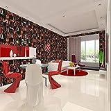 ZHAORLL 3D konkave Feste graue englische Alphabet tapete Schlafzimmer Wohnzimmer Restaurant bar hintergrundbild Nicht selbstklebend 53 cm * 10 mt,A