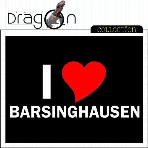 T-Shirt mit Städtenamen - i Love Barsinghausen - Herren - unisex Schwarz ...