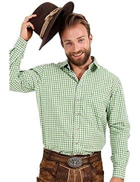 Michaelax-Fashion-Trade Krüger - Herren Trachtenhemd in Grün-Weiß, Hellgrün (951-151)
