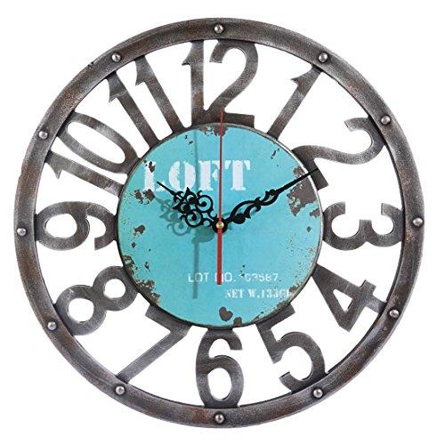 Vintage Reloj de pared según los, weizq 15pulgadas (40cm) grande Reloj de pared WALL CLOCK sin tickge räusche para salón, cocina o Oficina