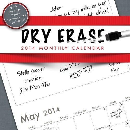 2014 Dry Erase with Noteboard Wall Calendar by TF Publishing (2013-06-13) - Dry Erase Calendario