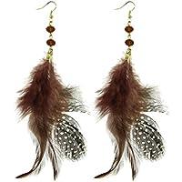 Lux accessori Uccelli di una piuma Flock insieme a pois con perline orecchini pendenti