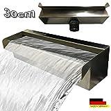 Edelstahl Wasserfall Wasserspiel Kaskade V2A Made in Germany 30