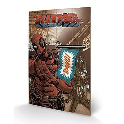 PYRAMID - Panneau en Bois Deadpool Bang