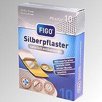 Figo 10 Silberpflaster 2 Größen, Latexfrei, antibakteriell preisvergleich bei billige-tabletten.eu