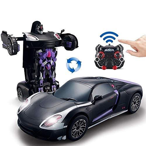 AIOJY Spielzeug Autos mit One-Button Deformation und 360 ° Rotating Driften for Kind-Geschenk RC Cars Roboter Sprachgesteuerte Maßstab 1:14 Fernsteuerungsauto- Gesture Sensing