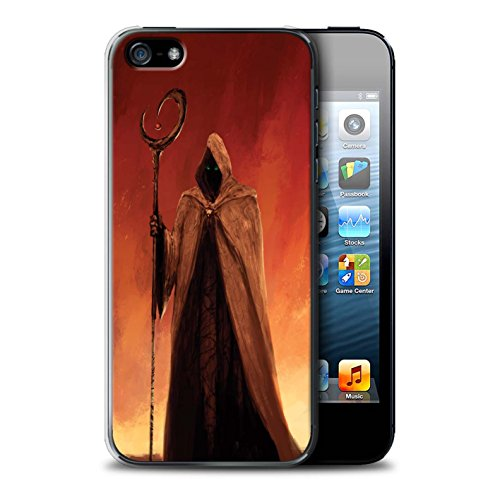 Offiziell Chris Cold Hülle / Case für Apple iPhone 5/5S / Dunkelste Stunde Muster / Dämonisches Tier Kollektion Gevatter Tod