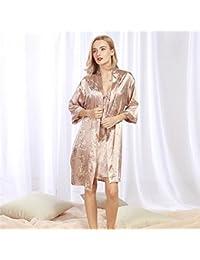 ... Andensoner -Brides Women Dragon Printed Dressing Gowns Set Medium  Sleeves Bathrobe Nightgown Pajamas Cardigan ... f8fd1d4a7
