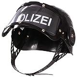 EDUPLAY 150109 Polizeihelm mit Visier, Kunststoff, 20 x 20 x 15 cm, Schwarz (1 Stück)