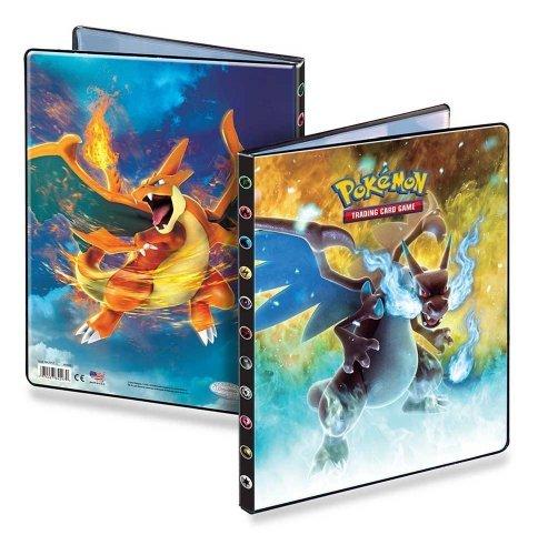 Ultra-Pro Large 9-Pocket Pokemon Card Binder/Portfolio ft. Charizard and Mega Charizard from XY (Album Holds 90-180