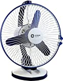 Orient Electric Zippy 225mm 2-in-1 Wall Mount and Table Top Fan (White/Blue)