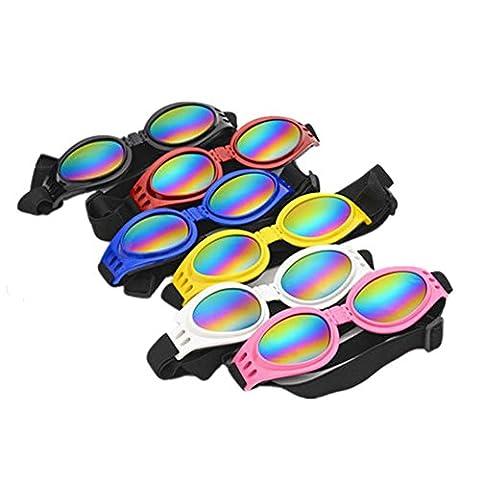 Fully 2x Faltbar Hund Brille Sonnenbrille UV-Schutz Goggles Augenschutz für Groß Hunde Haustier über 6kg