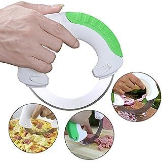 AIGUMI Rolling Küchenmesser, Edelstahl Küche Rundküchenmesser Schützen Sie Finger Artefakt Universal für Gemüse Obst Fleisch und vieles mehr