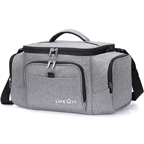 Lifewit 20L Kühltasche Faltbar Cooler Bag Kühler Isoliertasche für Sport/Picknick/Fitness, Grau
