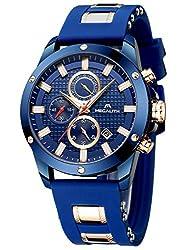Herren Uhren Manner Wasserdicht Sport Chronograph Große Designer Armbanduhr Mann Business Mode Leuchtende Datum Modisch Analoge Gummi Uhr