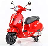 Toyhouse Vespa Rechargeable Battery Operated Ride-on Scooter for Kids (3 to 7 Years)