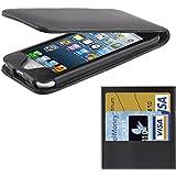 Etui Noir ouverture verticale avec 2 pochettes cartes pour iPod touch 5 et ipod touch 6 - TechExpert