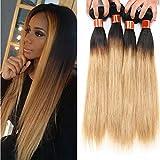 Best Hair Weave Blonde 3 Bundles - Mufly 9A Virgin Brazilian Human Hair Bundles Ombre Review