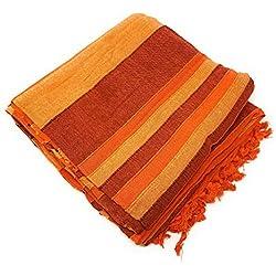 Agas Own - Copridivano Indiano XXL, in Cotone, 220 x 250 cm, Varie Varianti Oranje