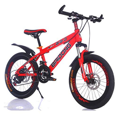 MUYU Kinderfahrrad 20,22 Zoll Für Mädchen Und Jungen Ab 8 Jahre Kinderrad Mountainbike Fahrrad Für Kinder,Red,22inch -
