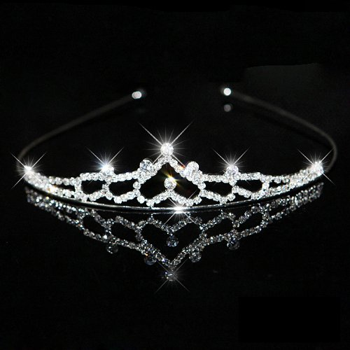 Tiara Diadema De Cristales Artificiales Para Fiesta Boda Novia Boda