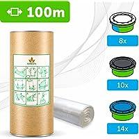 100 M - ECO Recarga compatible Sangenic Tommee Tippee | Angelcare para pañales | equivalente 8 cajitas Sangenic | 14 Angelcare | Producido en Europa + rollo de cartón para rellenar fácil