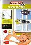 Powerfix Fliegengitter 130 x 150 2 er Pack 2 Fliegengitter + Klebeband Farbe anthrazith