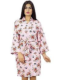 Kimono cruce del traje del algodón floral Batas Novia que consigue favores de la boda Listo