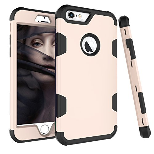 iPhone 6S Plus Fall, aoker iPhone 6Plus Case, Heavy Duty stoßfest [Perfect] Hard Kunststoff + Weich Silikon Gummi Armor Defender Best Schutzhülle für iPhone 6S Plus und iPhone 6Plus, Golden Black - Otterbox Iphone Sechs Gelb