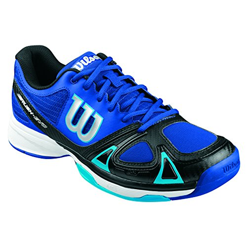 Wilson RUSH EVO, Chaussures de Tennis homme Bleu (surf the web/black/scuba blue)