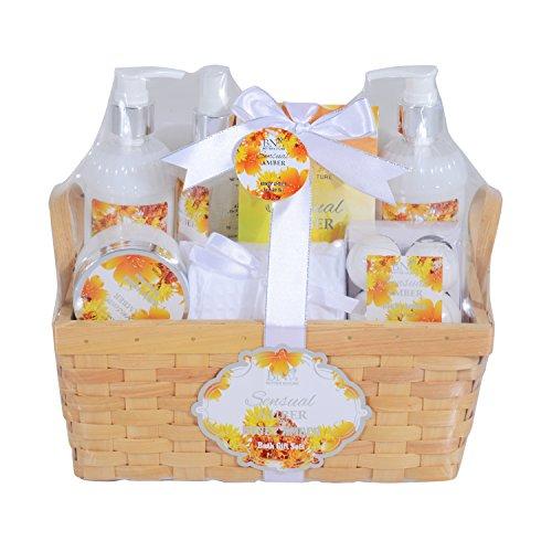 Homcom® 5/8-teiliges Wellness-Set Weihnachten Geschenkset Badeset Dusch Geschenk Pflegeset Körperpflege (Type D)