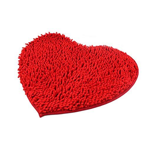Snner Corazón De Chenilla Alfombra Roja Decoración del Hogar ...