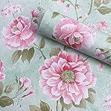 Vintage flores patrón papel de contacto estante maletero papel pintado autoadhesivo extraíble de flores para estantes cajón muebles pared artes y ofic