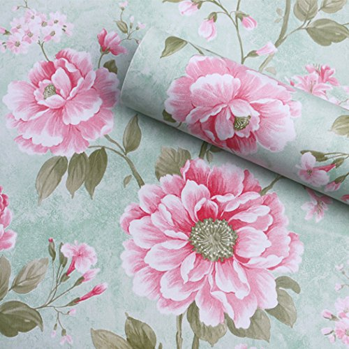 glow4u Vintage, Blumen-Muster, selbstklebend, abnehmbar, für Regal, Schublade, Möbel, Wand, Kunst und Handwerk, 17,7x 78,7cm (Kunst & Handwerk Bücherregal)