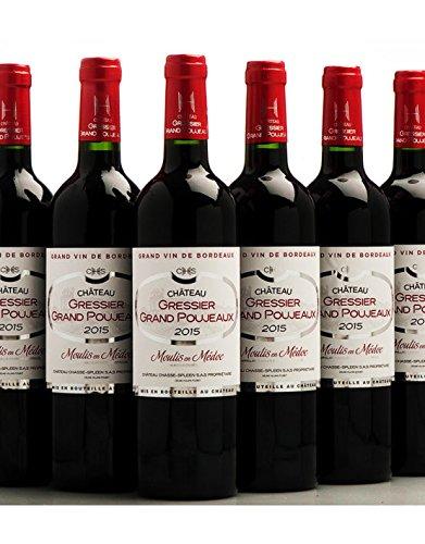 Château Gressier Grand Poujeaux 2015 - AOC Moulis - Vin Rouge - 6 bouteilles x 75cl - Signé Chasse Spl