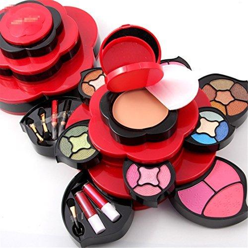 Pure Vie Professionelle Concealer Rouge Multicolor Lidschatten und Lipgloss Palette Schminkset -...