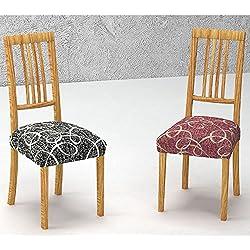 Pack de 2 Fundas de Asiento para Silla Modelo TOCUMEN, Color BEIGE C/2, Medida 40-50cm asiento