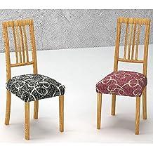 Pack de 2 Fundas de Asiento para Silla Modelo TOCUMEN, Color MARRÓN C/3, Medida 40-50cm asiento