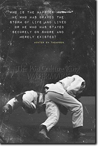 Judo motivacional, póster o afiche. 01 'Who is happier' Lámina original para regalo con cita de motivación impresa en papel de fotografía 30x20 cm Judoka Japan Japanese Kata