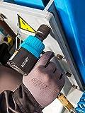HAZET Druckluft-Schlagschrauber (extra kurz, max. Lösemoment 1400 Nm, Vierkant 12,5 mm (1/2 Zoll), empfohlenes Drehmoment 620 Nm, Hochleistungs-Doppelhammer-Schlagwerk) 9012MT - 7