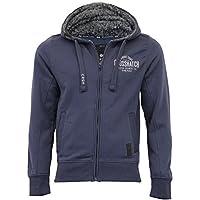 Mens Sweatshirt Crosshatch Sherpa Fleece Hoodie Top Zip Casual Lined Winter New