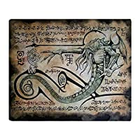 YISUMEI - Soft Fleece Blanket - The Rituals Of Cthulhu, 150 x 200 cm Throw Suitable for Sofa or Bed