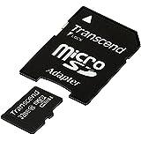 Transcend 32 Go Carte mémoire microSDHC Classe 10 avec adaptateur TS32GUSDHC10E [Emballage « Déballer sans s'énerver par Amazon »]