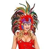 Tocado de plumas brasileño accesorios travestismo carnaval Brasil