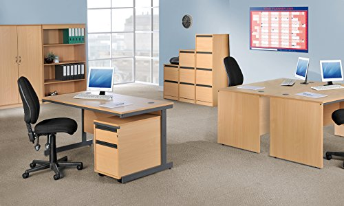 Office Elephant OE05-OF4O Four drawer filing cabinet with anti-tilt, fully lockable and accepts foolscap only in oak