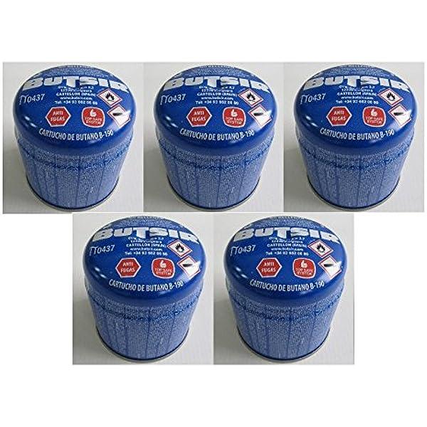 Pack de 5 - cartucho de gas 190 gr – bombona perforable con ...