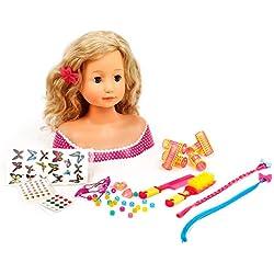 Mamatoy MMA03000-Buste de poupée à coifferavec 102accessoires