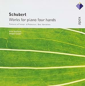 Schubert - Oeuvres pour piano à quatre mains : Fantaisie D940 - 6 Polonaises D824 - Duo D947 - Variations sur un thème original D813