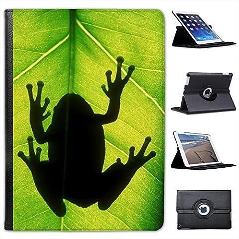 Rane Custodia a Libro in finta pelle con funzione di supporto per i modelli Apple iPad nero Gray Tree frog Silhouette iPad Air 2