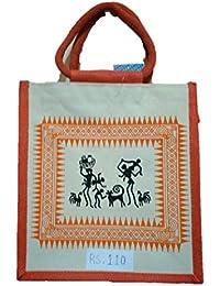 DSK Enterprise Jute Multi Color 11.5L*15w+4inch Box Eco Friendly Jute Bag (DSKE-6)
